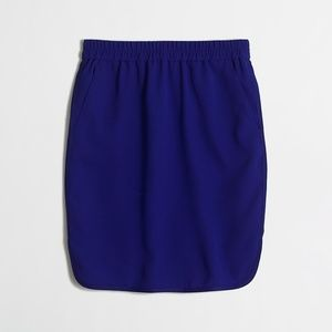 Royal Blue J. Crew Crepe Pencil Skirt